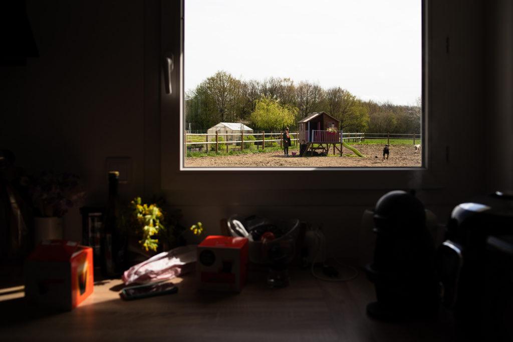 Mon projet photo 52 : bilan 6 semaines. Vue extérieure depuis une fenêtre.