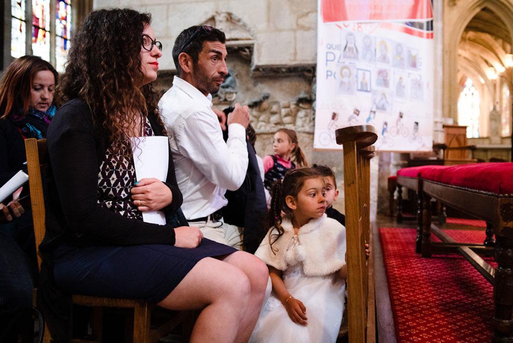 Reportage de baptême à La Ferté Bernard dans la Sarthe. Cérémonie église.