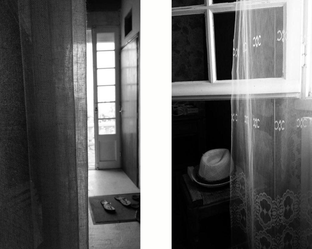 Photographe, apprendre à lâcher prise. Montage de 2 photos d'intérieur en noir et blanc.