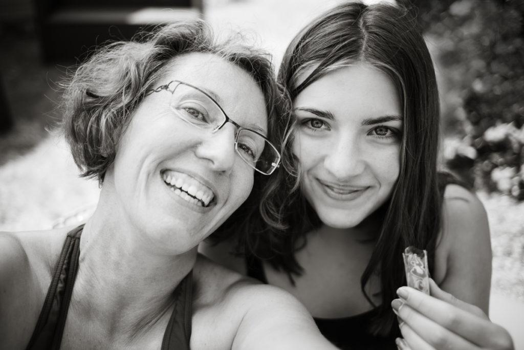 Je suis photographe de famille ! Autoportrait au réflex.