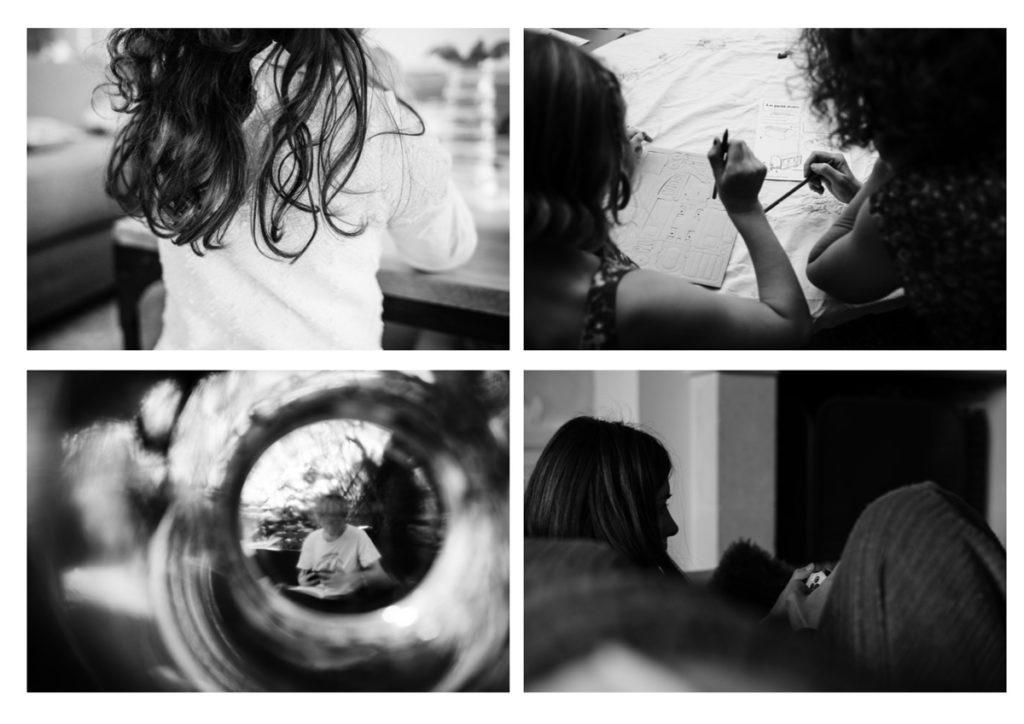 Portrait photographique et estime de soi avec le lycée L.de Vinci de Mayenne. Planche de portraits en noir et blanc.