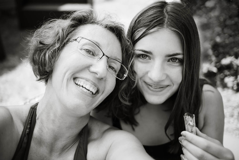 Autoportrait mère fille