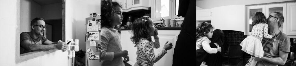 Dans la cuisine en famille. Reportage.