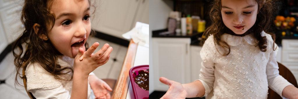 Gâteau au chocolat. se lécher les doigts. Reportage photo du quotidien.