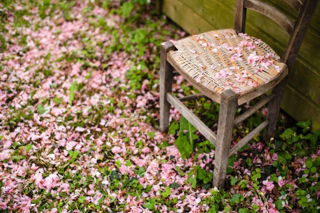 Une de mes valeurs phare : la simplicité. S'asseoir sur une chaise et admirer le jardin.